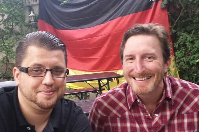 Lukas Rimbach with Glenn Kuras