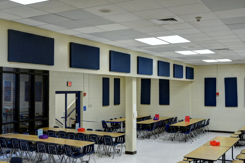 acoustic panels school cafeteria